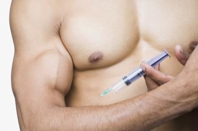 Man taking steroids