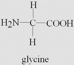 Glycine chemical formula